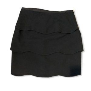 PINK Tartan jet black layered mini skirt size 4